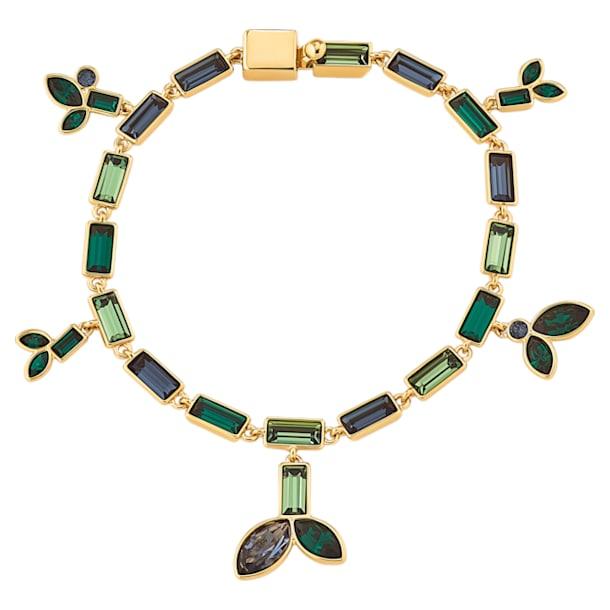 Pulsera Beautiful Earth by Susan Rockefeller, Bambú, Multicolor, Baño tono oro - Swarovski, 5535894