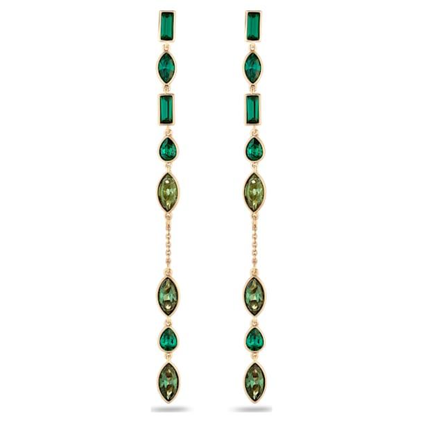 Orecchini Jackets Beautiful Earth by Susan Rockefeller, Long, verde, placcato color oro - Swarovski, 5535986
