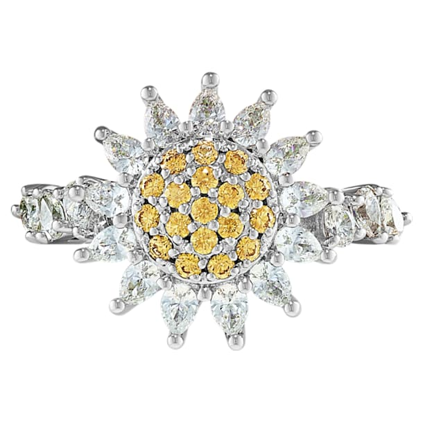 Botanical Ring, gelb, rhodiniert - Swarovski, 5536621