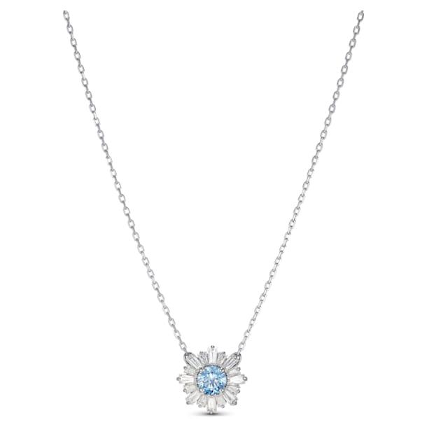 Pendentif Sunshine, bleu, métal rhodié - Swarovski, 5536742