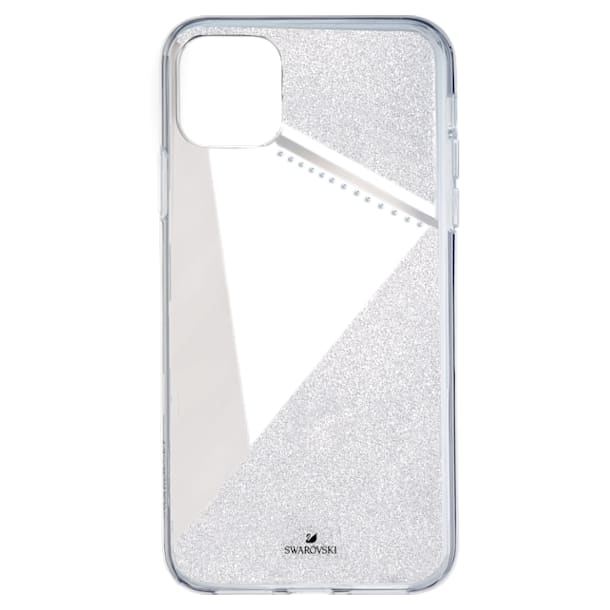 Subtle Smartphone Case with Bumper, iPhone® 11 Pro Max, Silver tone - Swarovski, 5536849