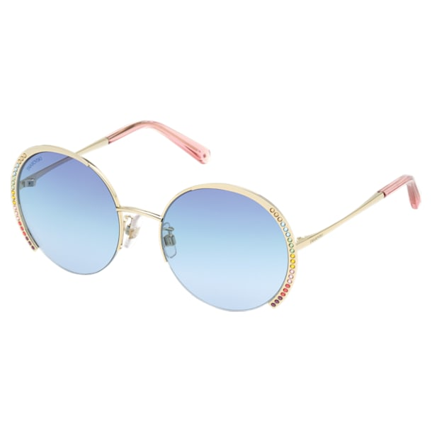 Okulary przeciwsłoneczne Swarovski, SK0280-H 32W, niebieskie - Swarovski, 5537324