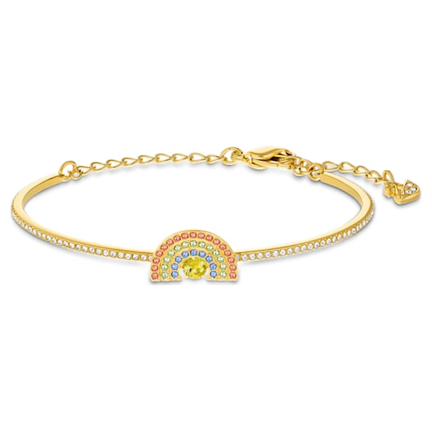 Swarovski Sparkling Dance Rainbow Bangle, Light multi-coloured, Gold-tone plated - Swarovski, 5537493