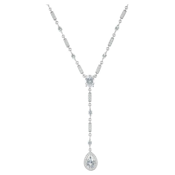 Lola Drop Pendant, Swarovski Genuine Topaz & Swarovski Created Diamonds, 18K White Gold - Swarovski, 5537949