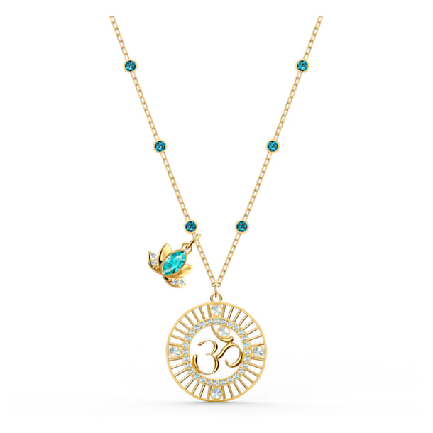 Pendente Swarovski Symbolic Lotus, verde, placcato color oro - Swarovski, 5538072
