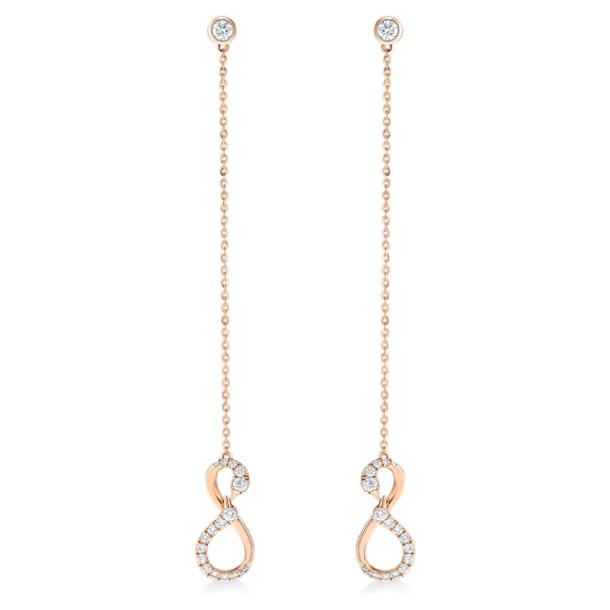 此爱永恒18K玫瑰金钻石耳环 - Swarovski, 5538159