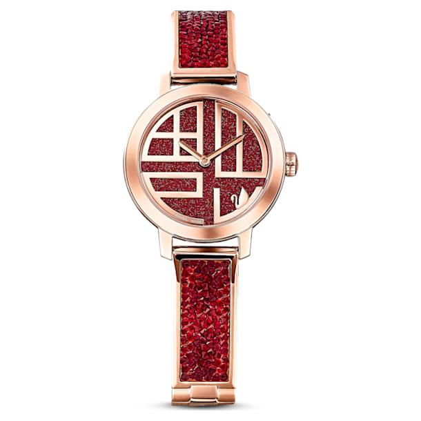 Cosmic Rock watch, Metal bracelet, Rose gold tone, Rose-gold tone PVD - Swarovski, 5538456