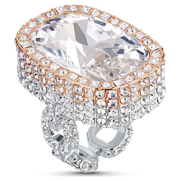 Pierścionek Eternal, biały, różnobarwne metale - Swarovski, 5538823