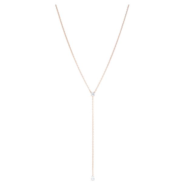 Attract Soul Y形项链, 白色, 镀玫瑰金色调 - Swarovski, 5539007