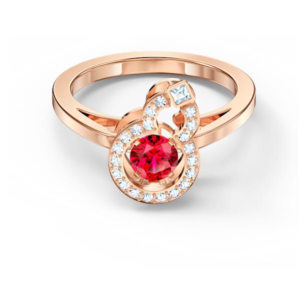 Full Blessing Hulu 戒指, 紅色, 鍍玫瑰金色調 - Swarovski, 5539901