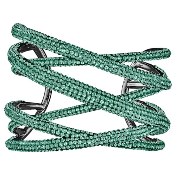 Bracciale rigido Tigris, verde, placcato rutenio - Swarovski, 5540375