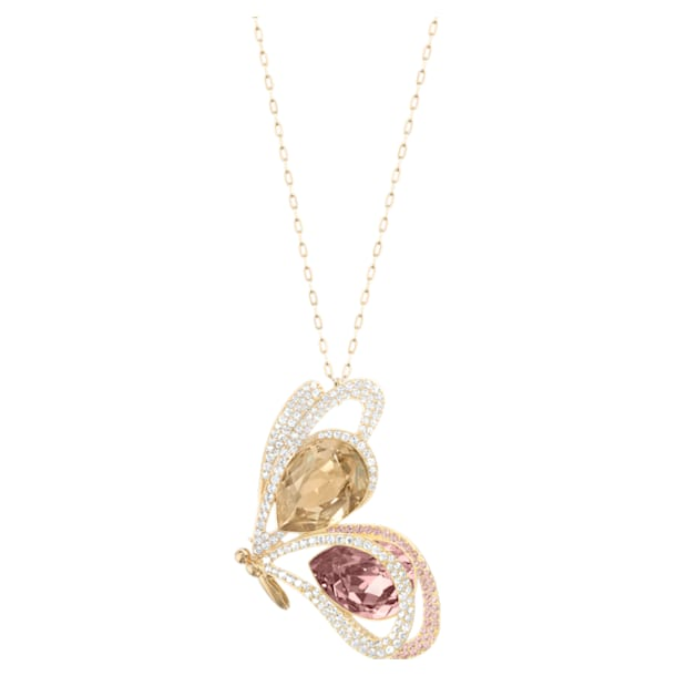 Chelly pendant, Butterfly, Multicoloured, Gold-tone plated - Swarovski, 5540495