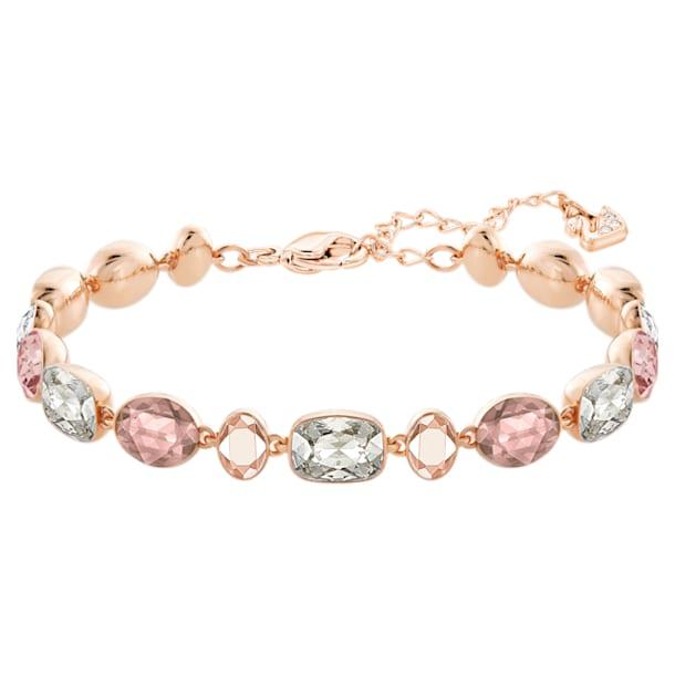 Girlfriend Bracelet, Light Multi-colored, Rose-gold tone plated - Swarovski, 5540496