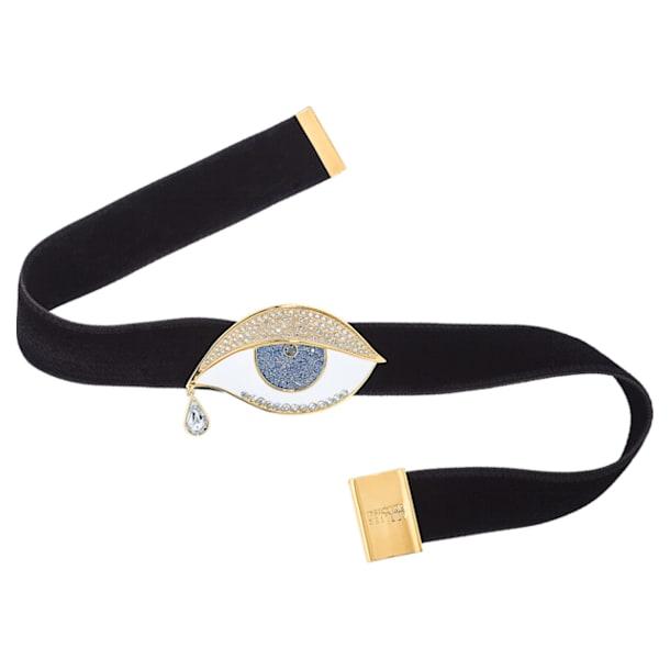 Surreal Dream Choker, Eye, Black, Gold-tone plated - Swarovski, 5540644