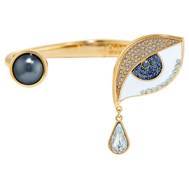 Surreal Dream Cuff, Eye, Blue, Gold-tone plated - Swarovski, 5540646