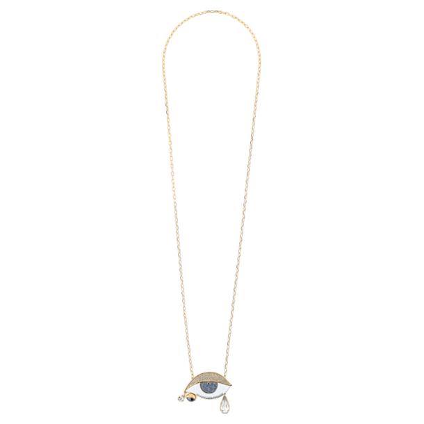 Surreal Dream Pendant, Eye, Blue, Gold-tone plated - Swarovski, 5540649