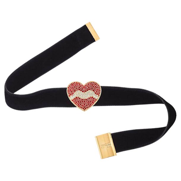 Surreal Dream Choker, Heart, Black, Gold-tone plated - Swarovski, 5540651