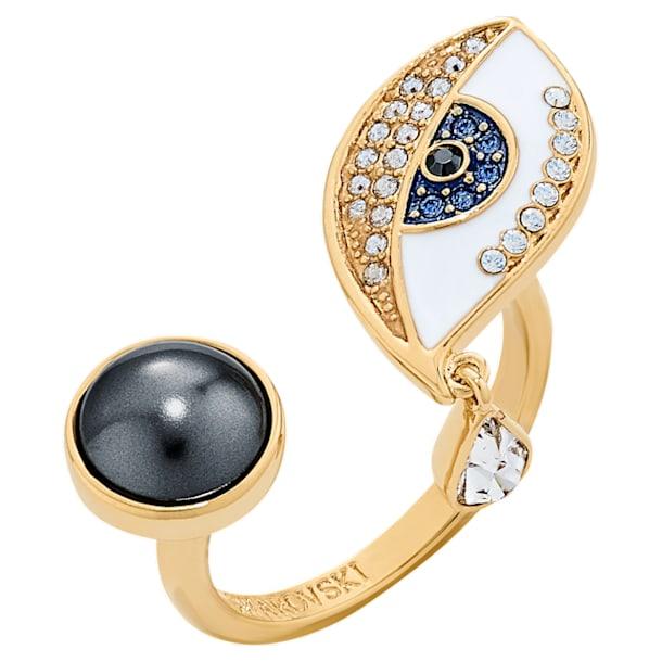 Surreal Dream Ring, Eye, Blue, Gold-tone plated - Swarovski, 5540653