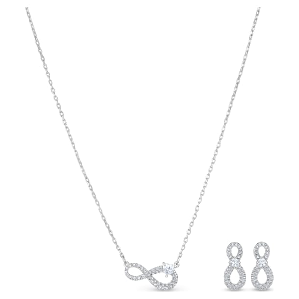 Swarovski Infinity 套裝, 白色, 鍍白金色 - Swarovski, 5540702