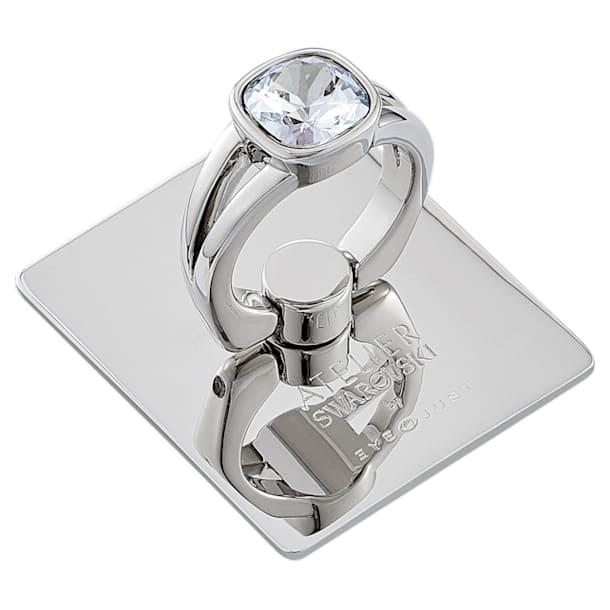 Anillo adhesivo EyeJust, tono plateado, baño de paladio - Swarovski, 5541905