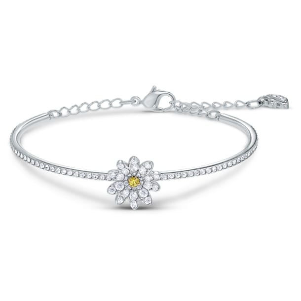 Bracelet-jonc Eternal Flower, jaune, finition mix de métal - Swarovski, 5542012