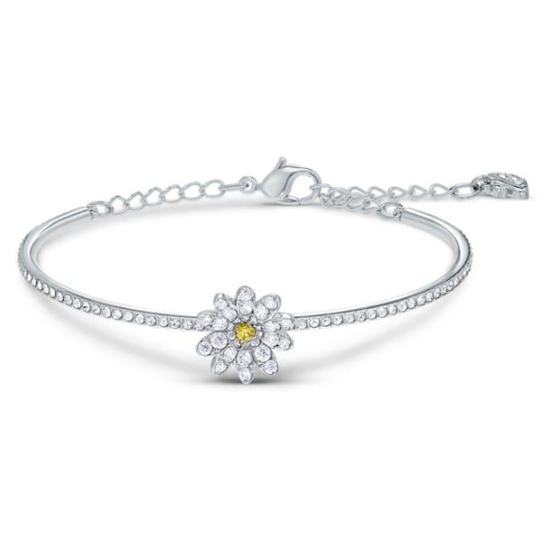 Bracelet-jonc Eternal Flower, jaune, finition mix de métal - Swarovski, 5542012
