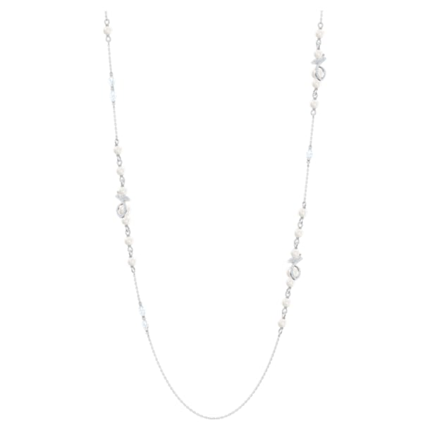 Leonore Strandage, White, Rhodium plated - Swarovski, 5542470
