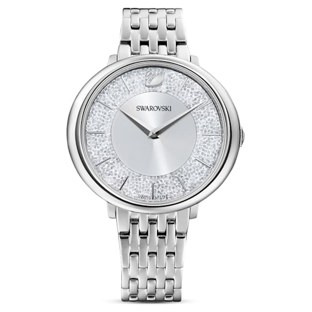 Crystalline Chic watch, Metal bracelet, Silver tone, Stainless steel - Swarovski, 5544583