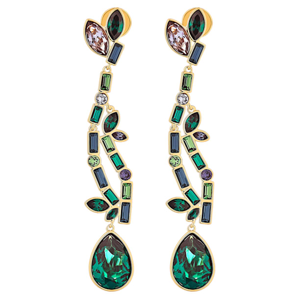 Boucles d'oreilles Beautiful Earth, Multicolore, métal doré - Swarovski, 5545991