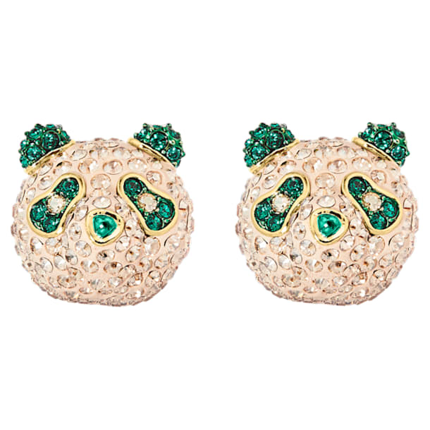 Gemelos Beautiful Earth, panda, verde, baño tono oro - Swarovski, 5545994