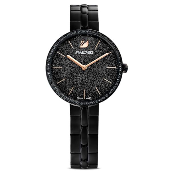 Reloj Cosmopolitan, brazalete de metal, negro, PVD negro - Swarovski, 5547646
