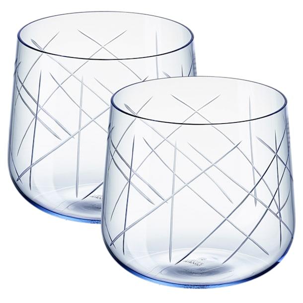 Juego de vasos (2) Nest, azul - Swarovski, 5548167