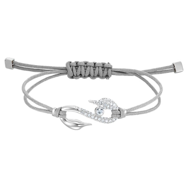 Swarovski Power Collection Hook Bracelet, Grey, Rhodium plated - Swarovski, 5551809