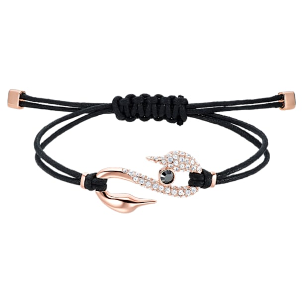 Braccialetto Swarovski Power Collection Hook, nero, Placcato oro rosa - Swarovski, 5551812
