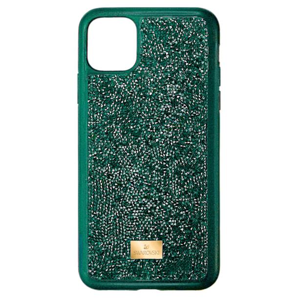 Pouzdro na chytrý telefon Glam Rock s ochranným okrajem, iPhone® 11 Pro Max, zelené - Swarovski, 5552654