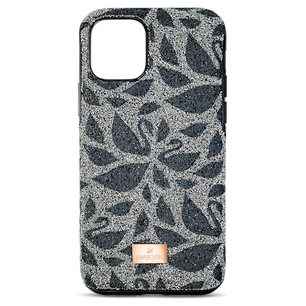 Swarovski Swanflower Smartphone Case with Bumper, iPhone® 11 Pro Max, Black - Swarovski, 5552793