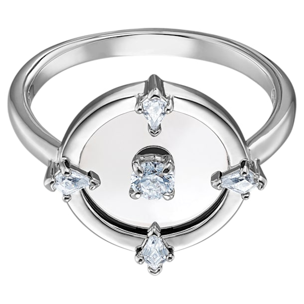 North Ring, White, Rhodium plated - Swarovski, 5552877