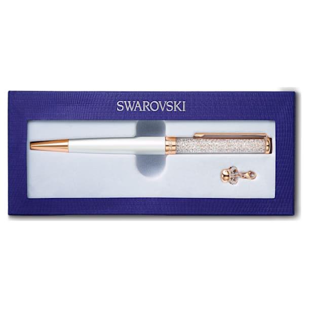 Crystalline Chinese New Year Ox ボールペン, 雄牛, ホワイト, ローズゴールドトーン・コーティング - Swarovski, 5553338