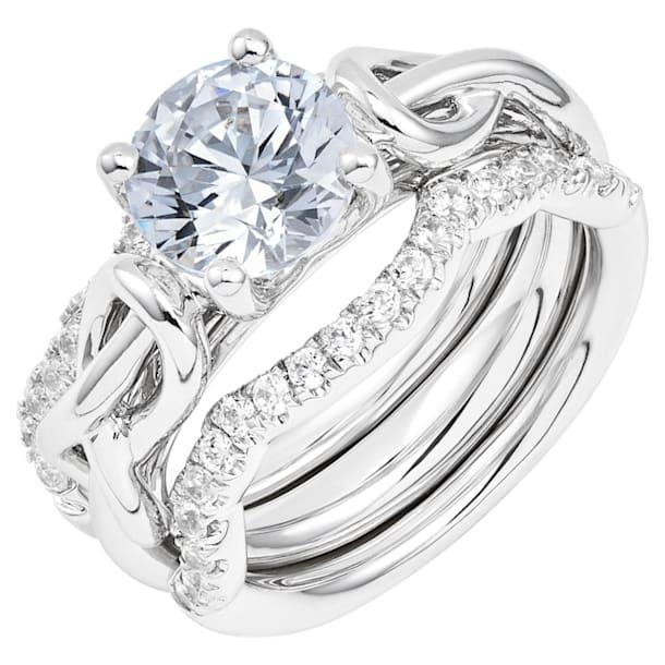 Knot of True Love Classic Solitaire Ring 2ct, Swarovski Created Diamonds, 18K White Gold, Size 52 - Swarovski, 5553895
