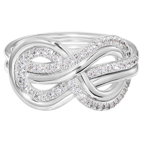 Knot of True Love Interlaced Pavé Ring, Swarovski Created Diamonds, 18K White Gold, Size 52 - Swarovski, 5553932