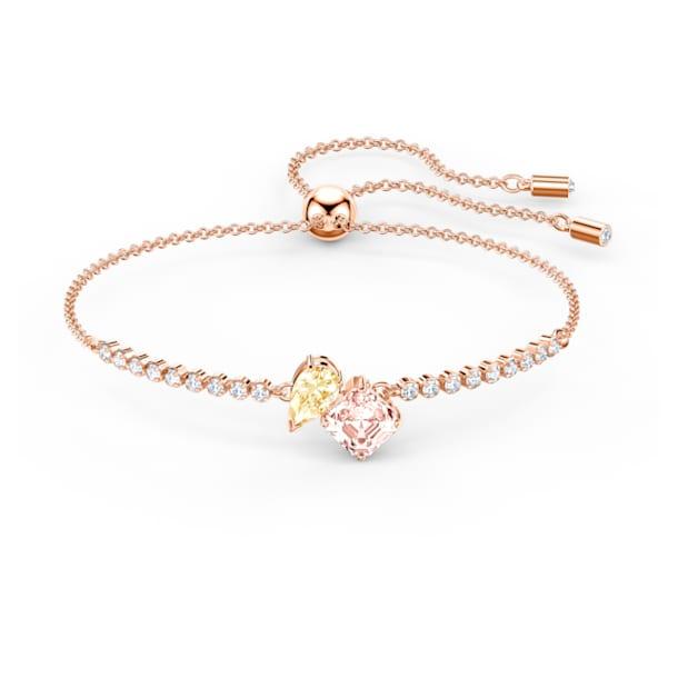 Attract Soul Bracelet, Light multi-colored, Rose-gold tone plated - Swarovski, 5554468