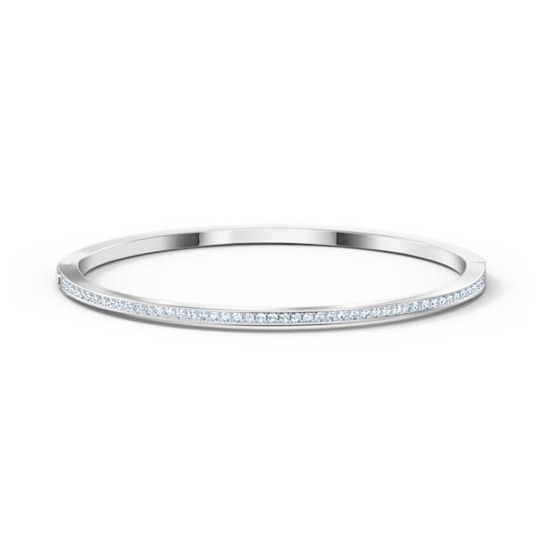 Kruhový náramek Rare, bílý, rhodiovaný - Swarovski, 5555723