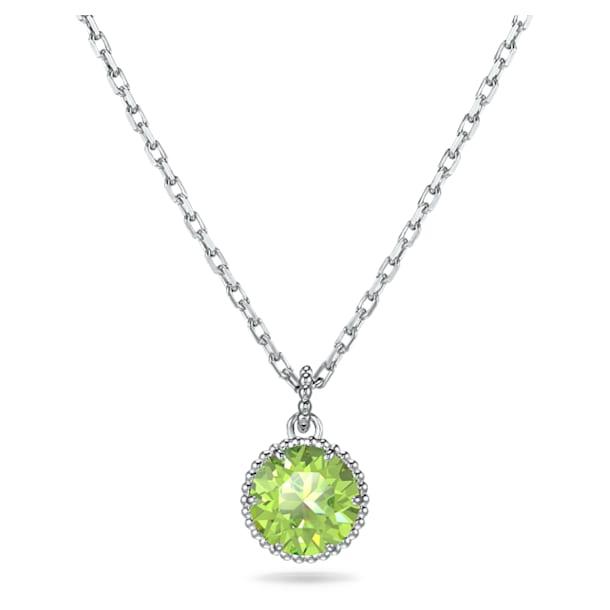 Birthstone Pendant, August, Green, Rhodium plated - Swarovski, 5555790