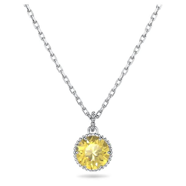 Pandantiv piatră zodiacală, noiembrie, galben, placat cu rodiu - Swarovski, 5555791