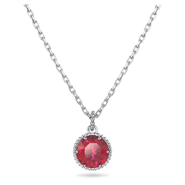 Pandantiv piatră zodiacală, iulie, roșu, placat cu rodiu - Swarovski, 5555795