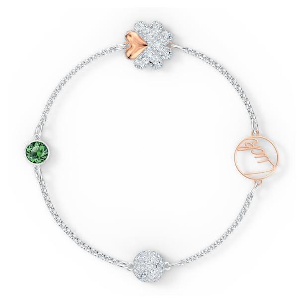 Amuleto em forma de trevo da Swarovski Remix Collection, verde, acabamento com vários metais - Swarovski, 5556901