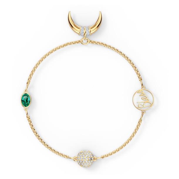Strand Swarovski Remix Collection Horn, vert, métal doré - Swarovski, 5556903