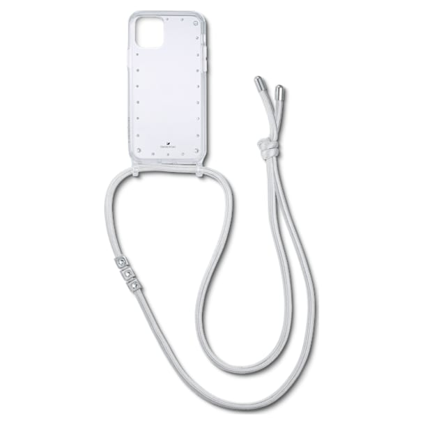 Swarovski Smartphone Necklace Case with Bumper, iPhone® 11 Pro, White - Swarovski, 5557777