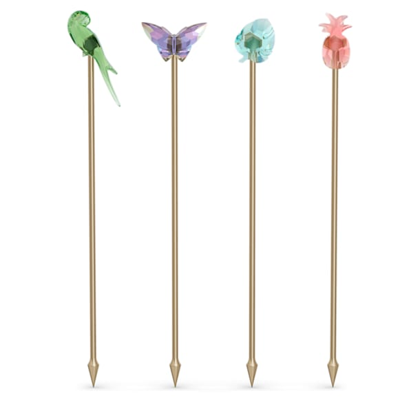 Jungle Beats Cocktail Stirrers Andoki, Set of 4 - Swarovski, 5557812
