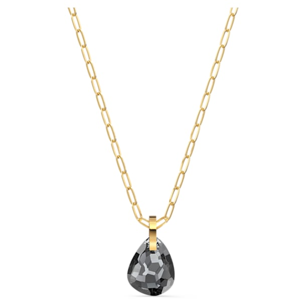T Bar Pendant, Gray, Gold-tone plated - Swarovski, 5558340